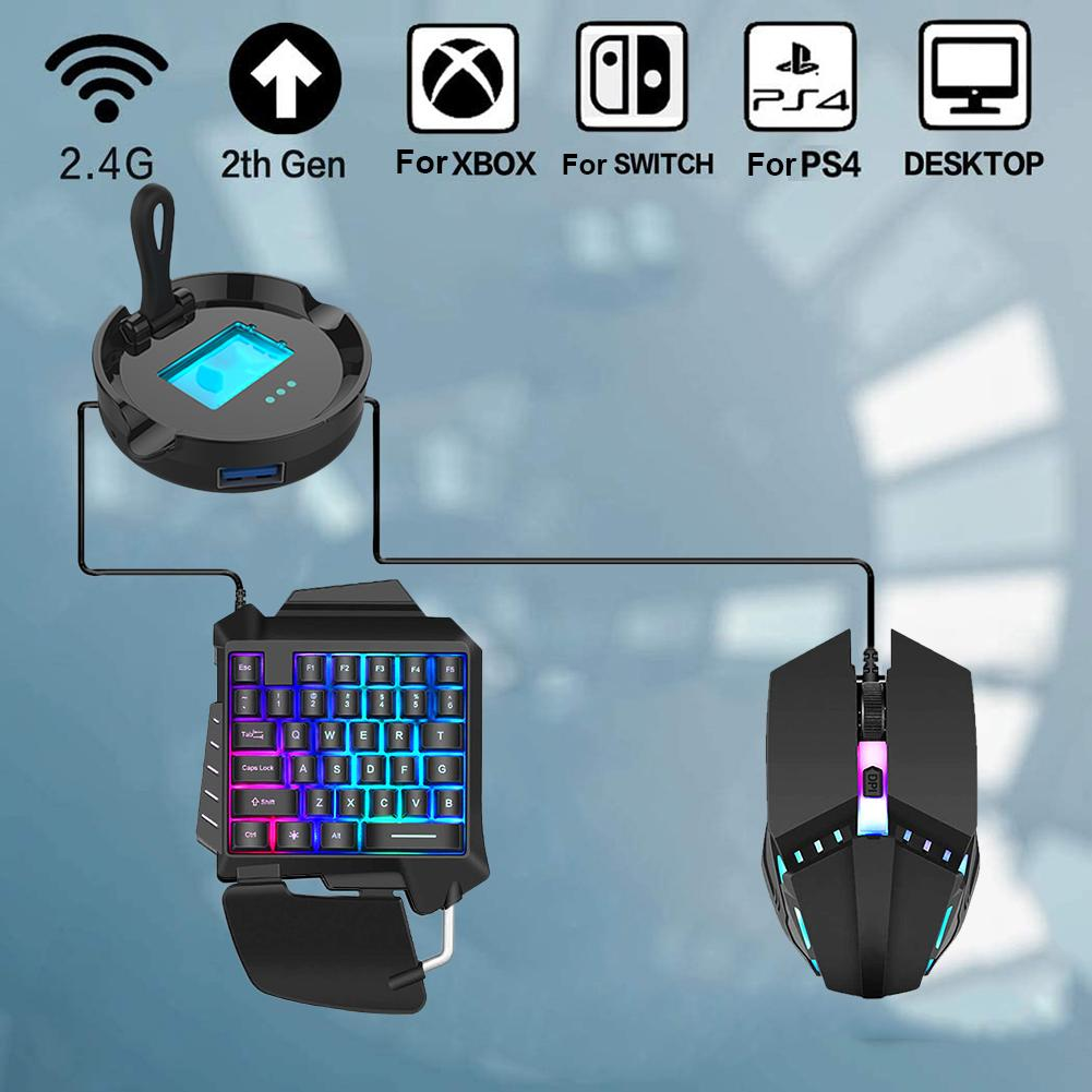 One-handed Ergonomic Wired Gaming Keypad Mouse Set 3-in-1 Bluetooth Gaming Keyboard For PUBG Mobile Phone Games