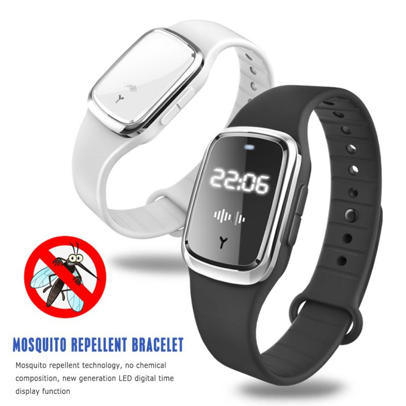 1 Pcs Electronic Anit Mosquito Repellent Bracelet Waterproof Watch Mosquito Killer Repellent Wristband Pregnant Kids Garden Home