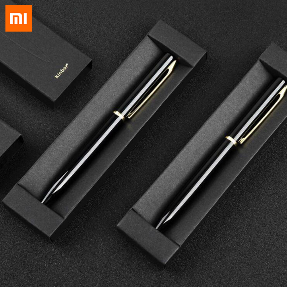 Xiaomi Kinbor Flow Jinhua Signing Pen 0.5mm Bullet Pen Lightly Screw Out Black Signature Pen Smooth Writing For Office School