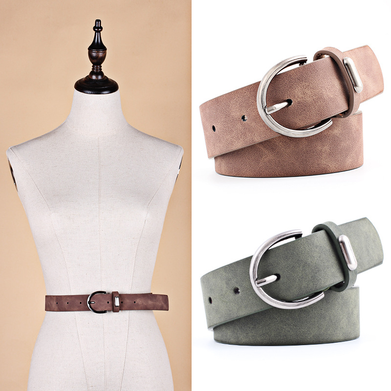 Women belt New Wide Suede Leather Waist belt Female Casual Ladies Pin Buckle belts for Women Dresses belts cinturon femme mujer|Women