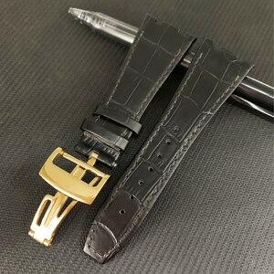 Image 3 - Audemars Correa de cuero genuino para reloj, correa de reloj hecha a mano de 26mm para 100%, para AP Piguet + herramientas
