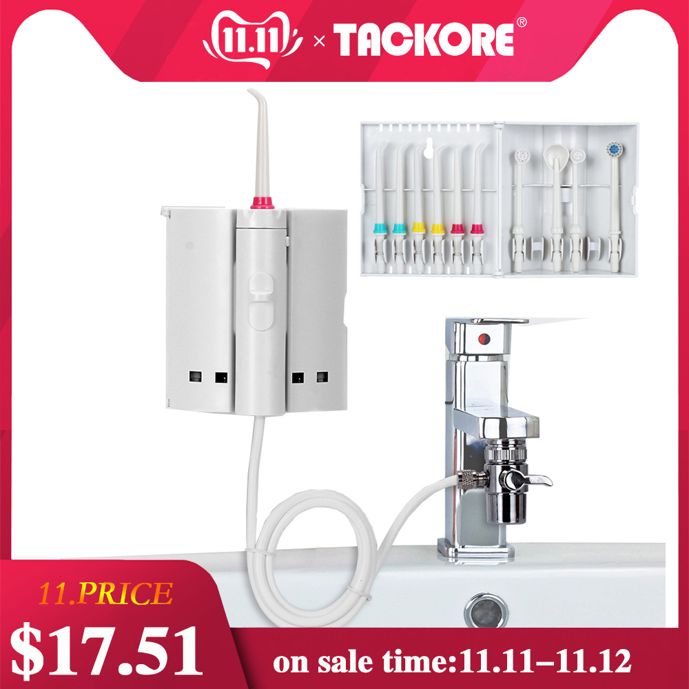 Tackore Faucet Water Flosser Oral Irrigator Dental Flosser Dental SPA Floss Water Jet Pick Water Dental Pick Oral Irrigation