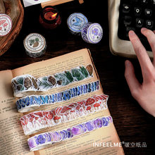 100pcs/lot Mushroom Butterfly Stickers Decorative Adhesive Tape Masking Washi Tape DIY Scrapbooking Stickers Japanese Stationery