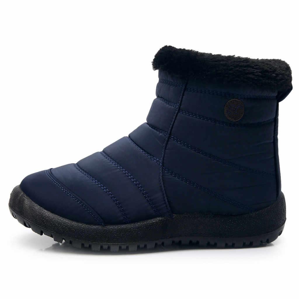 Ankle Boots Para Mulheres Botas De Pele Botas de Neve Quente Sapatos de Inverno Das Mulheres do Sexo Feminino À Prova D' Água Botas Acolchoadas Botas de Inverno Calçados Femininos
