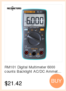 Hf27f454c80b84a95b8b7b48b6bcbfa922 RICHMETERS RM113D NCV Digital Multimeter 6000 counts Auto Ranging AC/DC voltage meter Flash light Back light Large Screen 113A/D