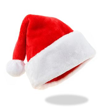 Kapelusz świąteczny luksusowy wysokiej jakości kapelusz świąteczny grube ciepłe czapki dla dorosłych czapka dziecięca czapki świętego mikołaja dekoracje świąteczne dla domu tanie i dobre opinie CN (pochodzenie) COTTON Christmas hat