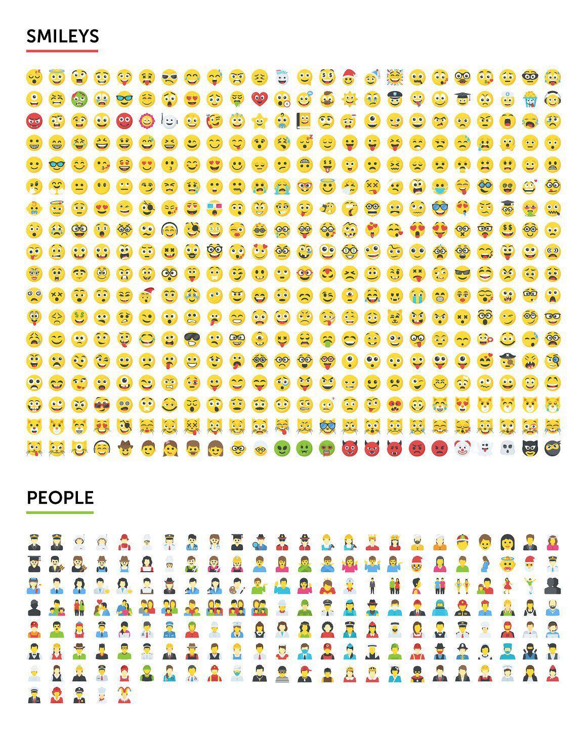 矢量图形-2500个表情符号emoji图标合集打包下载 格式AI,EPS,SVG,PNG,PDF,JPG(4)