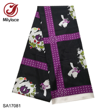 New 2019 African Printing Satin Fabric high quality 5 yards Fashion Digital  Ankara for Clothing SA17078