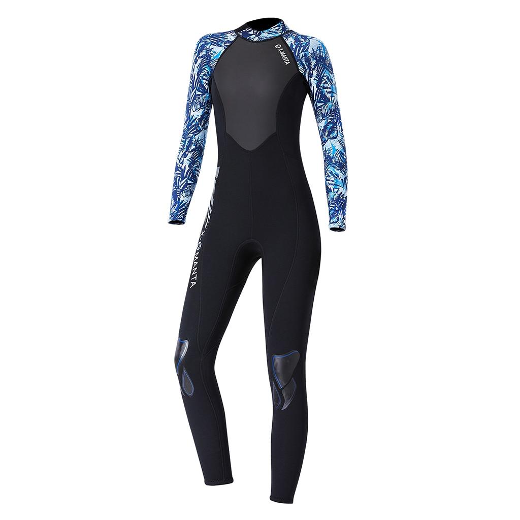 Women's 3mm Back Zip Full Wetsuit, Adult's Swimwear UV Sun Protection Rash Guard Women Wetsuit