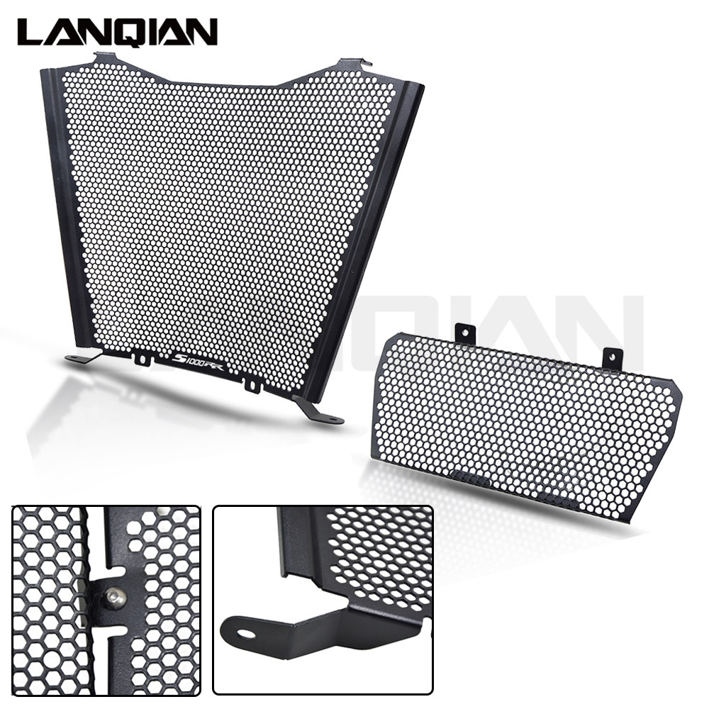 Motorcycle Radiator Guard Grill Oil Cooler Cover Protector For BMW S1000RR Black