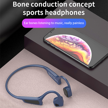 цена на Bone Conduction Bluetooth 5.0 Headphone Sport Portable Waterproof Headset Wireless Earphone With Mic for iphone Xiaomi Samsung