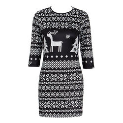 New arrival Women Winter half slim vintage Knitted Jumper Christmas Sweater Pullover Knitwear Long Tops Dress Womens Ladies Warm 5