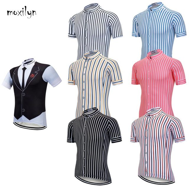 Moxilyn Mens Cycling Jerseys Top Skinsuit Cycling Clothing Mountain Bike MTB Tie Shirt Breathable Sweat absorbing Quick drying