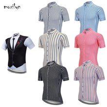 Moxilyn męskie koszulki rowerowe Top Skinsuit odzież rowerowa Mountain Bike MTB do krawata i koszuli oddychająca pochłaniająca pot szybkoschnąca