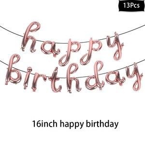 Image 5 - Różowe złote imprezowe jednorazowe zastawy stołowe różany złoty puchar talerze słomki dla dorosłych dekoracje na przyjęcie urodzinowe Baby Shower dla nowożeńców zaopatrzenie firm
