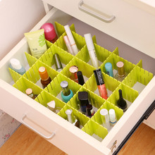 2019 household hot sale DIY (4pcs) creative drawer storage partition free combination