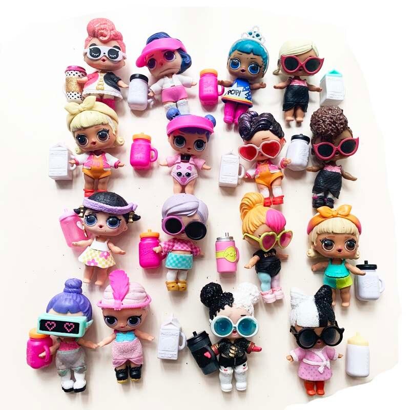 1 pçs random original lol surpresa boneca/animal de estimação com roupas sapatos garrafas acessórios 8cm bonito l. o. l. surpresa brinquedos para crianças diy