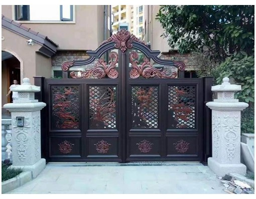 Beautiful Fence Gate With A Small Door Resident Sliding Gate Design For Sale