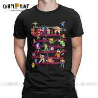 Hommes jeu d'arcade Collage t-shirts FC Console jeu Vintage Style T-Shirt classique LA Camiseta coton vêtements grande taille T-Shirt