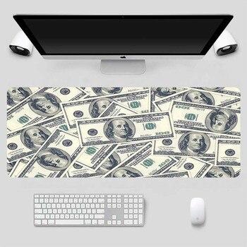 Gaming Mouse Pad 100Dollar Graph Natural Rubber Pad Mouse Mat Large Desk Mat Keyboard Game Play Mat Carpet PC Desk Carpet Gaming