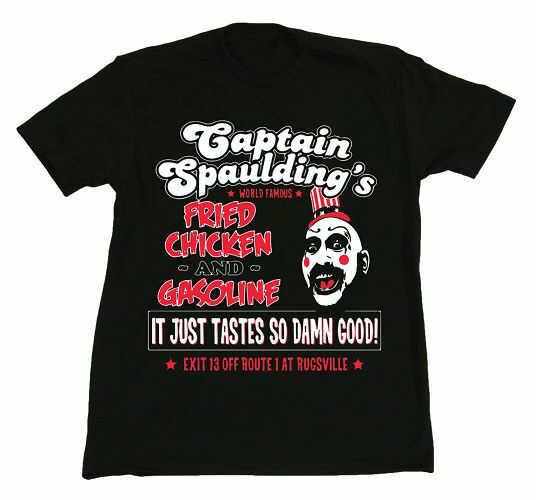 Verano 2019 Casa de mil cuerpos capitán Spaulding camiseta nueva película de robo Zombie raro Streetwear Xxxtentacion