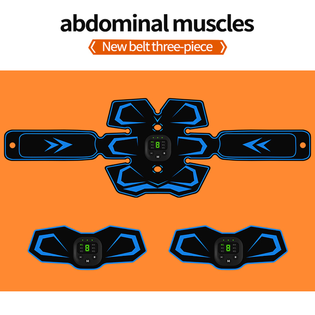 Electrical Muscle Stimulator EMS Wireless Muscle Trainer Muscle Toner Abdominal Muscle Massager for Arm Leg Body Pain Relief 4