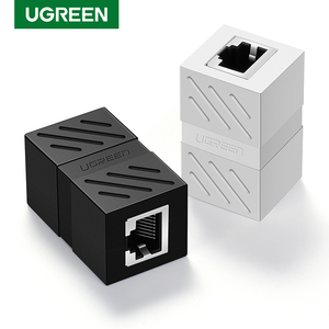 Ugreen RJ45 Connector Cat7/6/5e Ethernet Adapter 8P8C Network Extender Extension Cable for Ethernet Cable Female to Female(China)