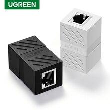 Ugreen RJ45 konektörü Cat7/6/5e Ethernet adaptörü 8P8C ağ genişletici uzatma Ethernet kablo dişi dişi