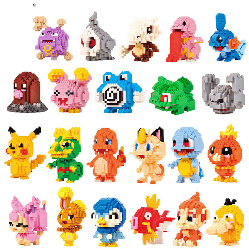 Pokemon Anime Figures Micro Building Blocks Assembling Model Creative Plastic Toys Educational Toys for Children Boxed New 1
