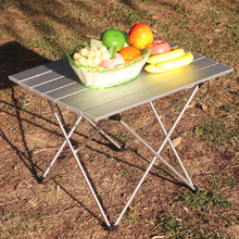 Ultralight Aluminum Table Compact Camp Table, Portable Folding Camping Tablewith Carry Bag for Outdoor,Picnic