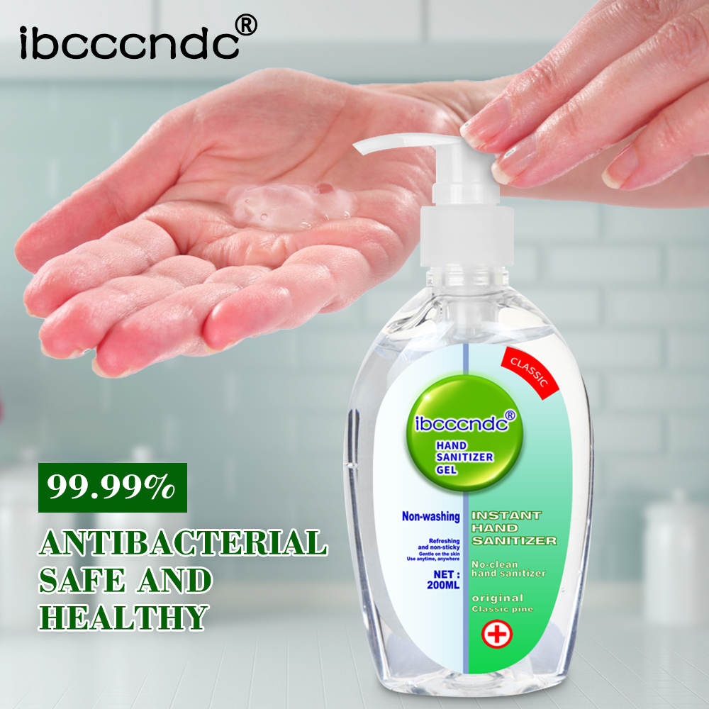 IN STOCK 50/200ml Portable Hand Sanitizer Gel 65% Alcohol Disinfection Antibacterial Gel Disposable Waterless Hand Gel Wholesale