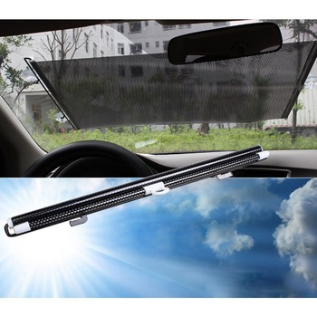 รถยนต์ Universal Retractable กระจกอัตโนมัติพับ Sun Shade UV ป้องกันด้านหน้า Windows