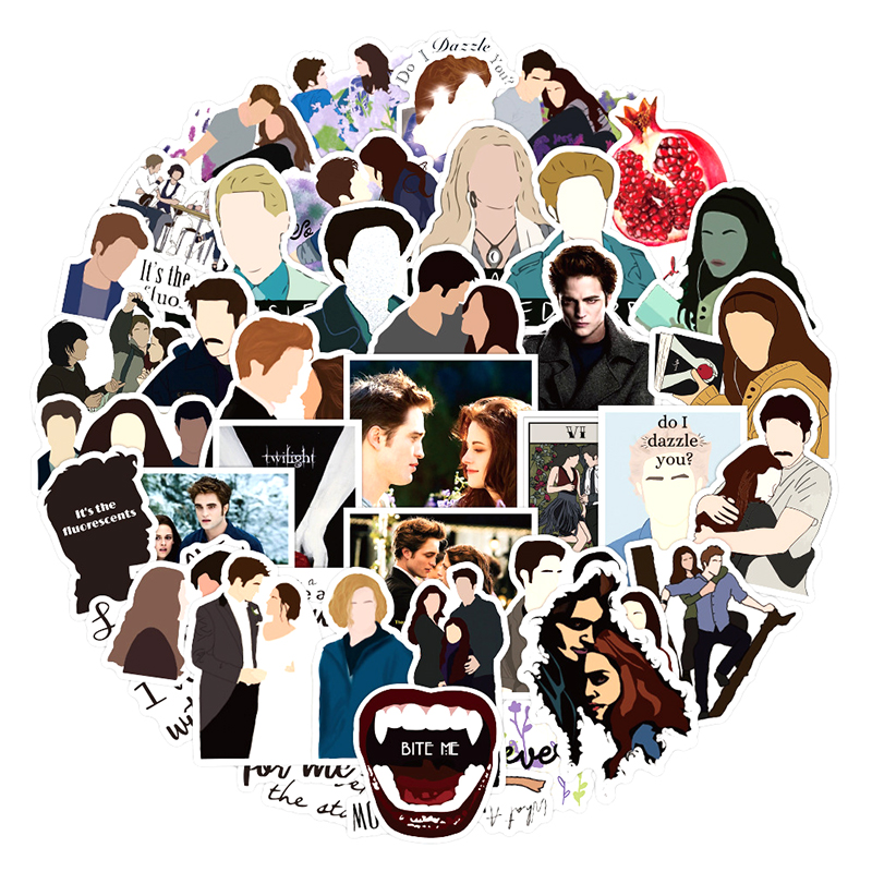 10/30/50pcs/pack Classic Movie The twilight saga Lable Stickers For Furniture Wall Desk Chair Toy Car Trunk Decal TV Motorcycle