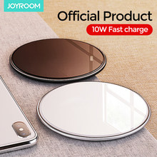 Joyroom 10W QI Fast Wireless Charger For iPhone 11 Pro XS Max XR Samsung S10 S9/S9+S8 Note 9 Xiaomi LED Mini Mirror Charging Pad(China)