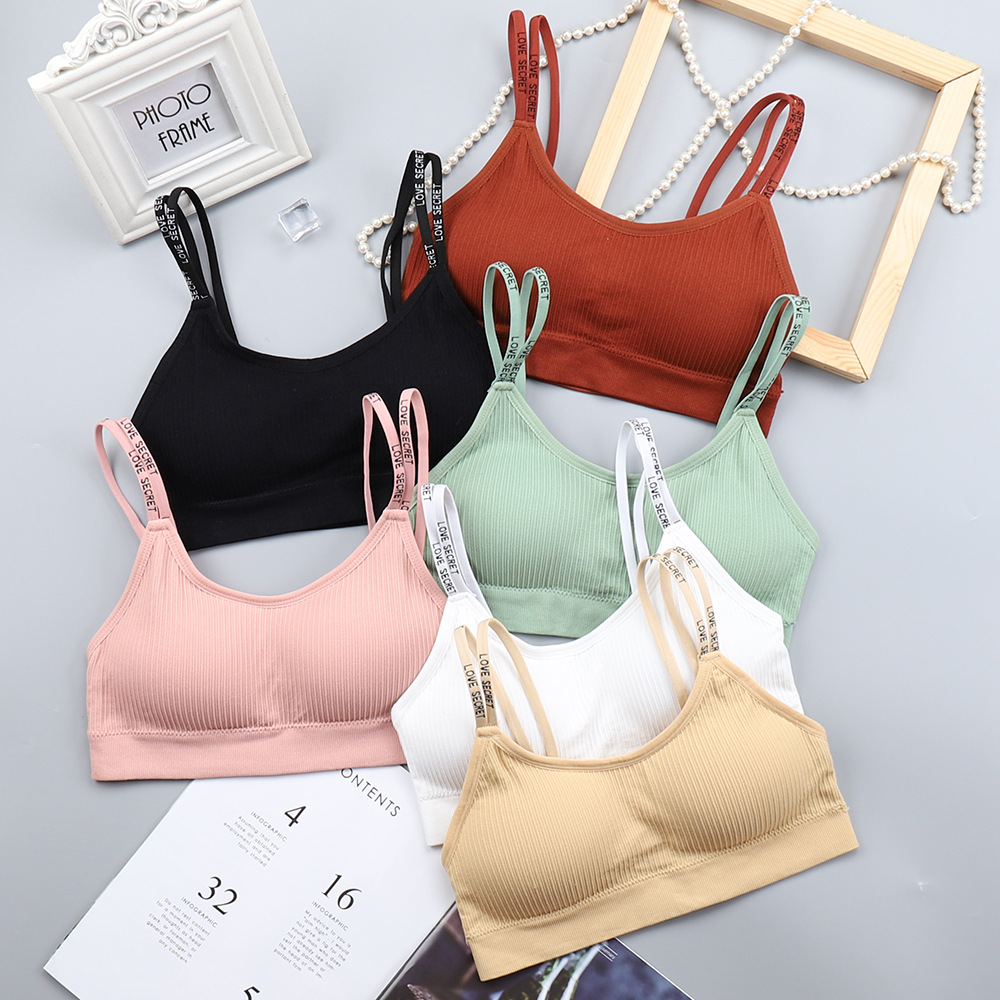 2019 New Fashion Red Women Tanks Women Sexy Bra Solid Vest Seamless Breathable Push Up Top Underwear Breathable Sleep Bra