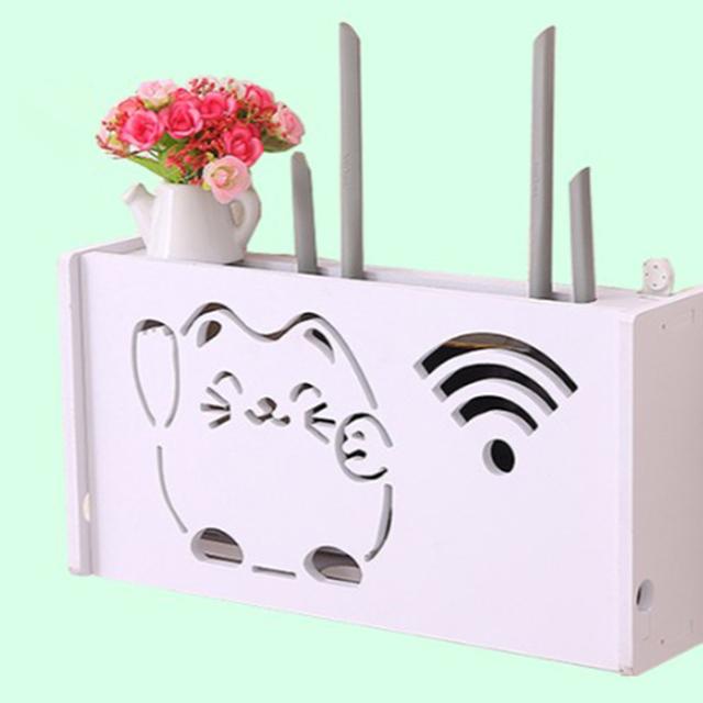 Wood Wifi Router Storage Box