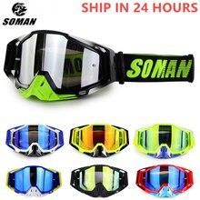 Motocross Goggles Gafas Downhill Off-Road Uv-Resistant SOMAN Dustproof Glasses