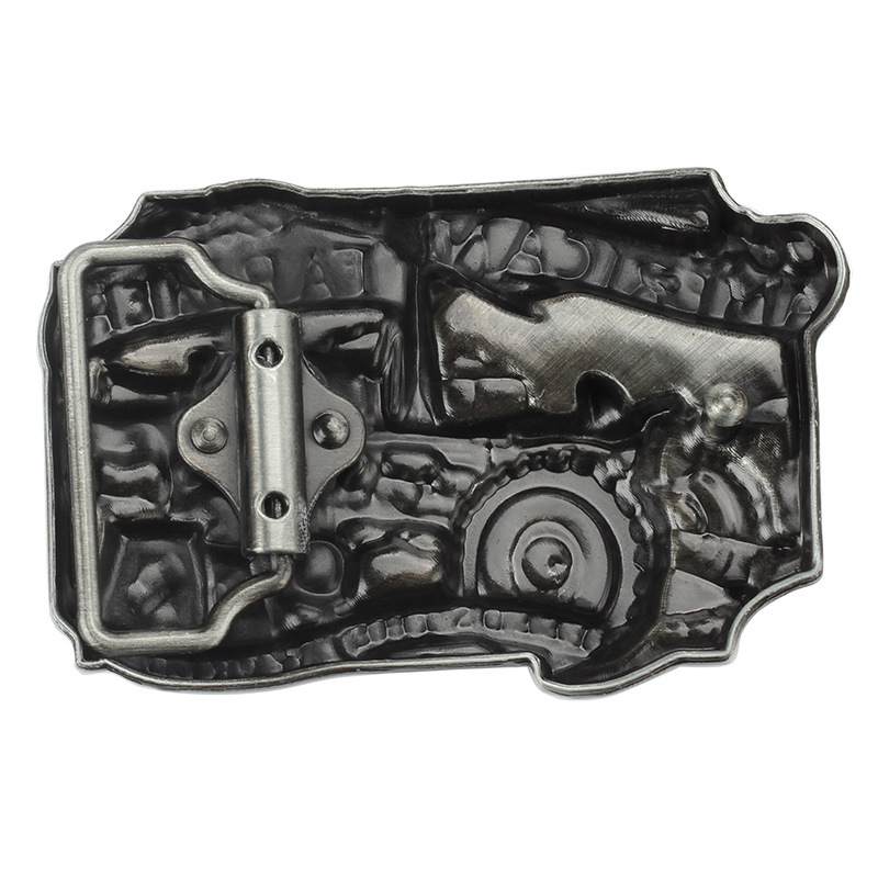 Tractor  Belt Buckle Handmade homemade belt accessories Farm theme waistband DIY Western cowboy Heavy metal rock punk k49