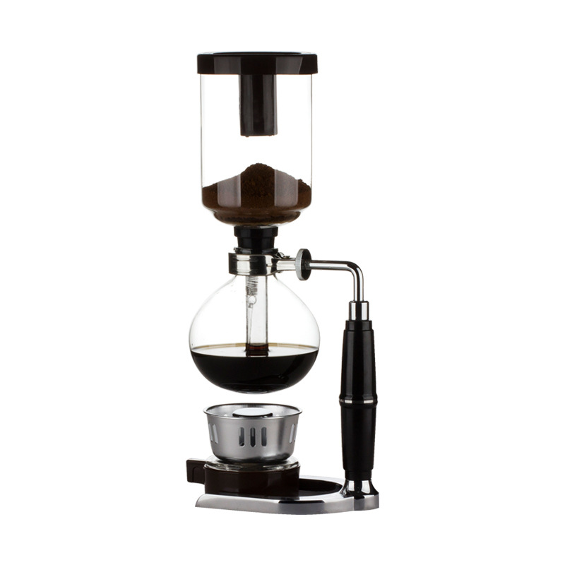 Image 2 - Home Style Siphon coffee maker Tea Siphon pot vacuum coffeemaker glass type coffee machine filter 3cup 5cups-in Coffee Makers from Home Appliances