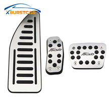 цена на Xburstcar Car Brake Pedal Accelerator Gas Pedals Pad Cover Fit for Ford New Fiesta MK7 2009 - 2017 AT MT LHD RHD Accessories