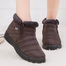 Красивые новые зимние сапоги; Плюшевые Теплые ботильоны; водонепроницаемые женские ботинки; женская зимняя обувь; женские ботиночки размера плюс 53; Botas Mujer