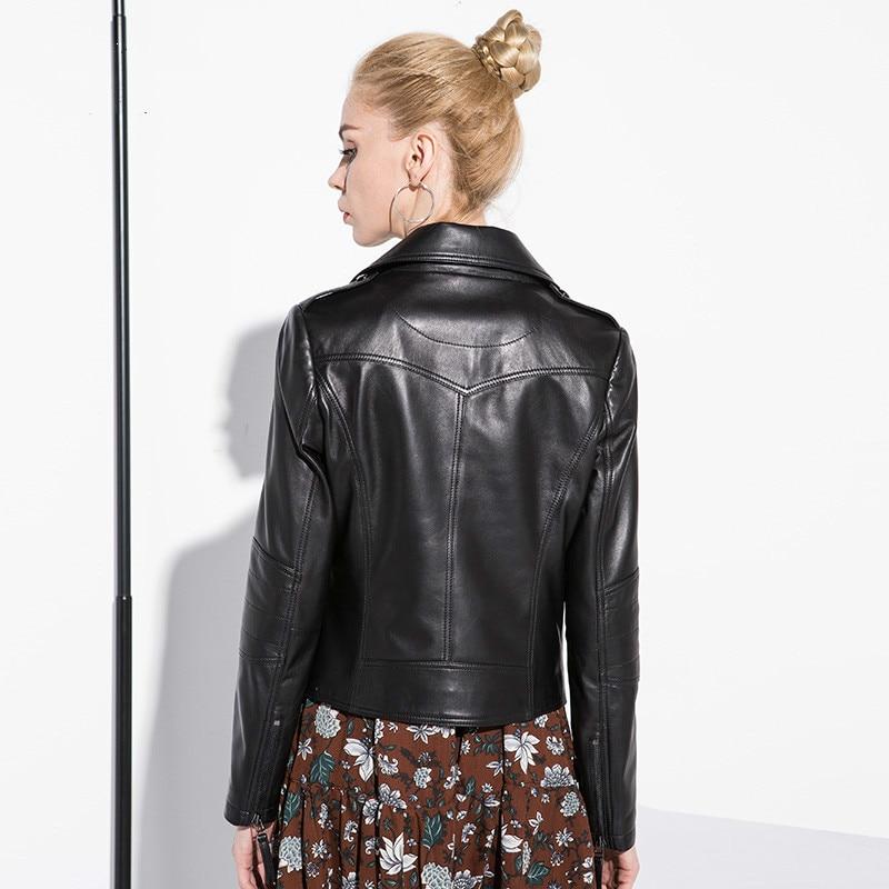 Tcyeek100% Real Leather Jacket Women Clothes 2020 Fashion Ladies Genuine Leather Coat Female Streetwear Moto Chaqueta Mujer 1851