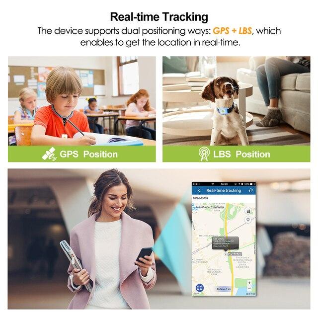 Mini GPS Tracker For Dogs - Children - Kittens 4G LTE SOS Waterproof WIFI Listening Device  4