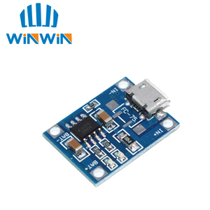 Image 2 - 100pcs Micro USB 5V 1A 18650 TP4056 Lithium Battery Charger Module Charging Board With Protection Dual Functions 1A Li ion