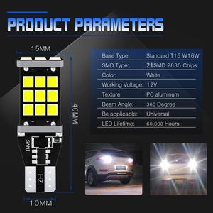 Image 2 - 2x T16 T15 W16W LED Bulbs 2835 SMD 921 912 Car Backup Reverse Lights for Hyundai Santa Fe ix35 ix20 ix55 Matrix Tucson Veloster