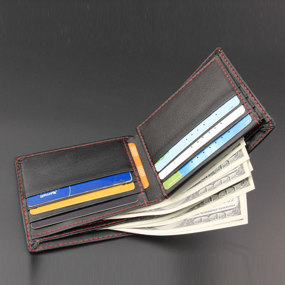 PU Leather Wallet Fashion Short Bifold Men Wallet Casual Soild Wallets With Coin Pocket Male Card Holder Purses Male Wallet#D