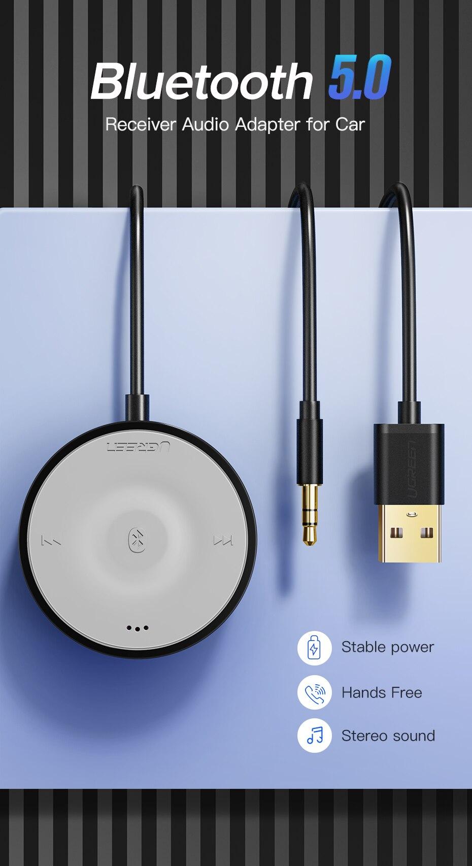 ll receptor hands-free 3.5mm adaptador de áudio