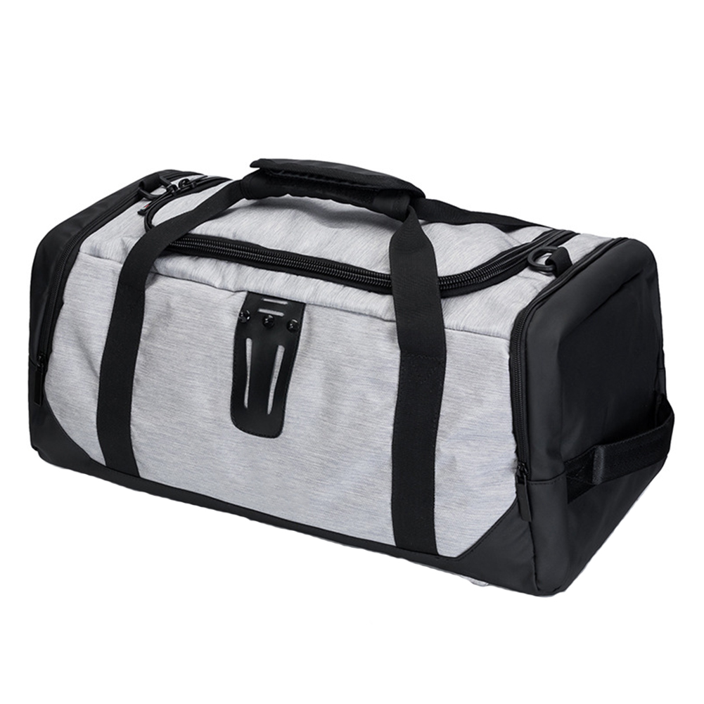 Tote Backpack Shoe-Compartment Sport Gym-Bag Crossbody Travel Polyester with Casual Durable