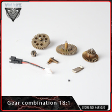 VMASZ Metall Diff Wichtigsten Getriebe Kombination Motor Ritzel 18:1 für Airsoft M4 AK AEG Getriebe Box VER.2/3 Auto ersatzteile Upgrade Jagd