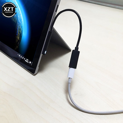 20cm 15V 3A Fast Charging USB Type-C Female Power Supply for Microsoft Surface Pro 4 5 6 Go Tablet PD Charger Adapter Cable DC